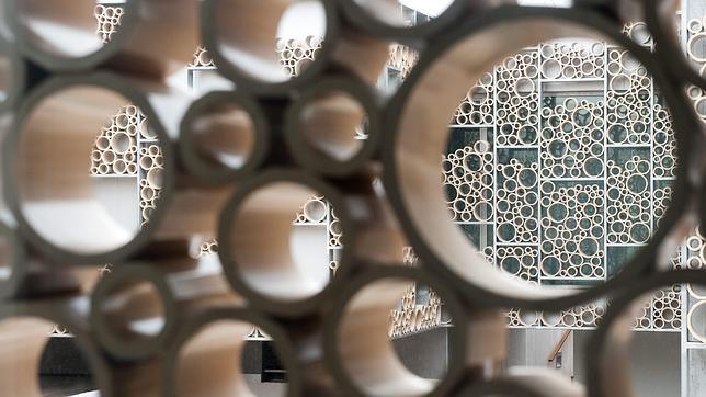 Piezas circulares cerámicas de la celosía fabricadas en La Rambla
